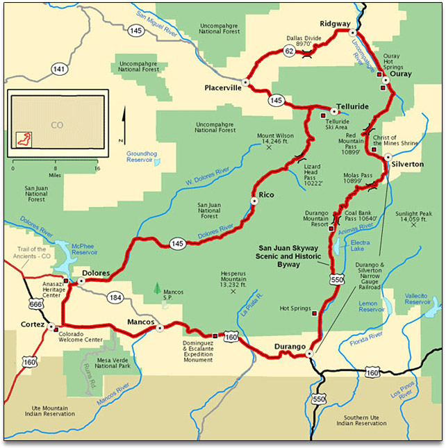 Travel The San Juan Skyway Scenic Byway When Visiting Trail Of The