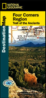 National Geographic GeoTourism Map of the Four Corners Region Trail of the Ancients